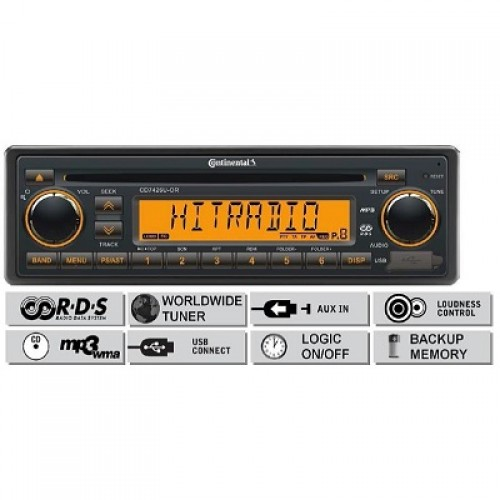 Радио платформа FM/AM, USB MP3/WMA, CD - (CD7426U-OR)